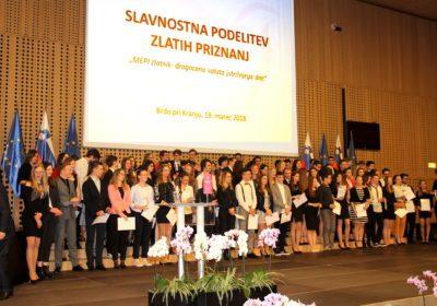 93 mladih prejelo zlata priznanja MEPI