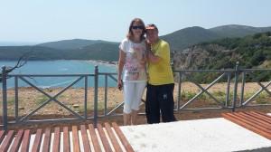 Gregor z mami na poti v Cetinje